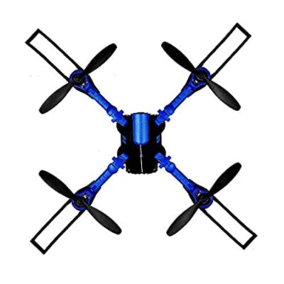 LLD-UAV Drone Quadcopter WIFI FPV self-timer drone 0.3MP camera 2.4G 4CH 6-axis gyroscope aircraft height keep RC collapsible helicopter real-time transmission (blue)