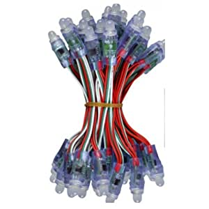 12 millimetri DC 5V FA 50PCS WS2811 RGB Full Color Pixel digitale indirizzabile LED String
