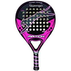 Slazenger Match - Pala de pádel, color negro / rosa / gris, 38 mm