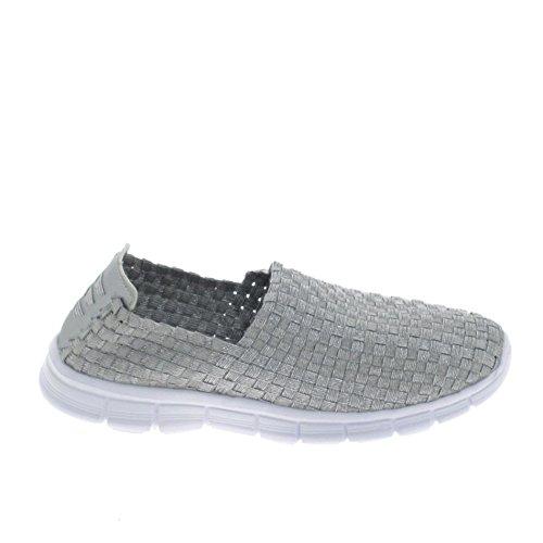 BASS3D ,  Sneaker donna, argento (argento), 38