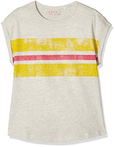 ESPRIT KIDS Mädchen T-Shirt RL1012301, Weiß (Heather Cream 114), 116 (Herstellergröße: 116 Preisvergleich