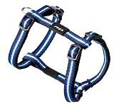 Rogz Special Verstellbare h-Harness, 11mm x 23–37cm, klein, blau