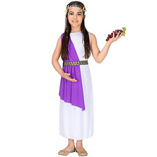 Für Kostüm Jungen Götter Griechische - TecTake dressforfun Mädchen Kostüm Cleopatra | Bezauberndes Kleid | inkl. Extravagantem Haarband (12-14 Jahre | Nr. 300257)