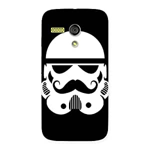 Enticing Mustach Black Back Case Cover for Moto G