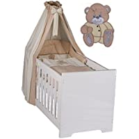 7-tlg. Babybettset Memi Bear in beige inkl. Krabbeldecke + Lätzchen -NEU- preisvergleich bei kleinkindspielzeugpreise.eu