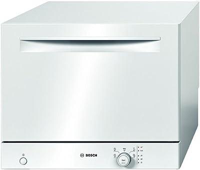 Bosch SKS50E02EU - Lavavajillas pequeño (A+ B, 7,5 litros, 0,62 kWh, 54 dB, 60 cm), color blanco