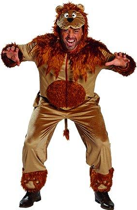 Herren Lion Kostüm - Löwe Lion Tierkostüm Raubkatze Kostüm für Herren