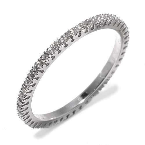 Superstar anello donna in oro 18 carati bianco con diamante h/vs (totale diamanti 0.34 ct), taglia 18, 1.9 grammi