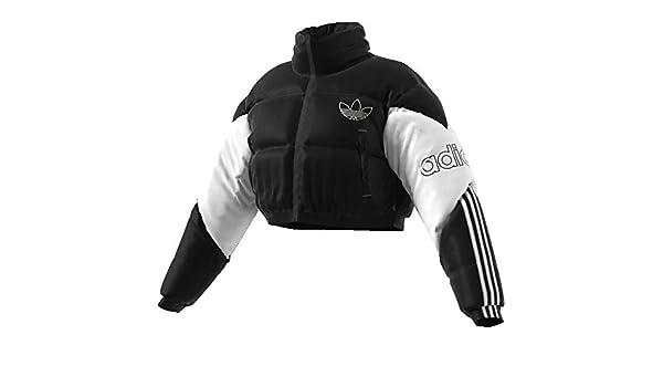 adidas Damen Cropped Puffer, Jackets M SchwarzWeiß: Amazon
