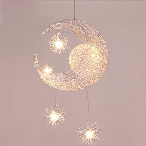 Midore Moon And Stars Fairy Ceiling Light for Children Bedroom Lighting Decoration