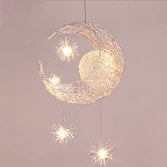 Midore Moon And Stars Fairy Ceiling Light For Children Bedroom - Childrens lights for bedrooms