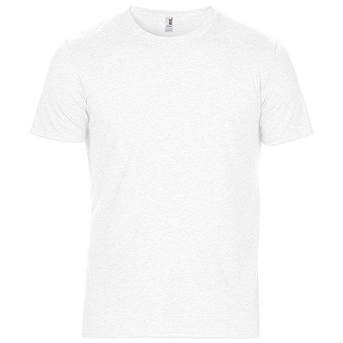 Anvil Mens Adult Tri Blend T Shirt Weiß - Weiß