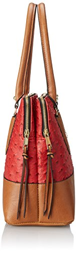 Emilie M. Linda Compartment Satchel Donna Ecopelle Red/Cognac