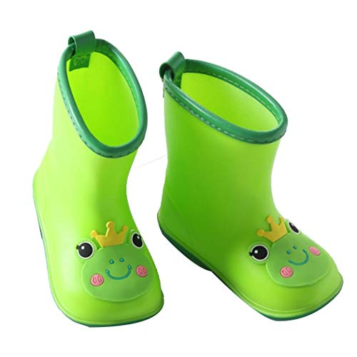 Iiloens Children Rain Boots Baby Infant 1-6 Years Old Water Rubber Shoes Boots