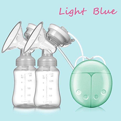 Extractor de leche materna eléctrico - STRIR Dual Mama Bomba automática masaje postparto prolactina (Verde)