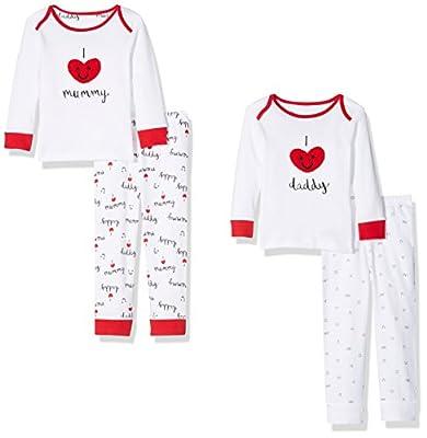 Mothercare Mummy & Daddy, Conjuntos de Pijama Unisex-Niños