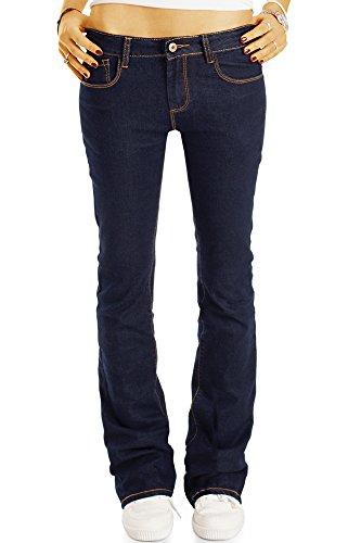 Bestyledberlin Damen Boot-Cut Jeans, Ausgestellte Slim Fit Jeans, Hüftige Schlaghose j21l 38/M (Vintage-knie Stiefel Hoch)