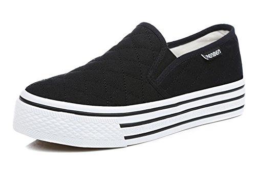 Heel Contrabbasso Aisun Sneakers Donna Classica Di Don Nere vZqCxSwqX
