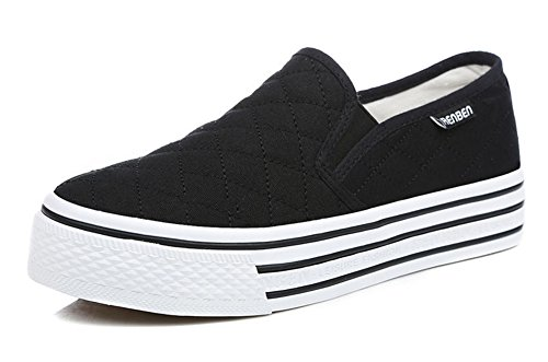 Nere Classica Di Don Sneakers Donna Contrabbasso Heel Aisun ACxq8U