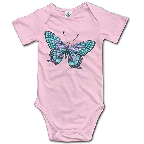 TKMSH Unisex Baby's Climbing Clothes Set Butterfly Bodysuits Romper Short Sleeved Light Onesies for 0-24 Months Butterfly Pant Set