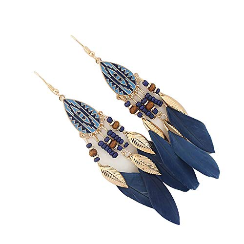 Orecchini Donna Pendentidonne Vintage Metallo Orecchini Foglia Ovale Orecchini Stile Indiano Nappa Orecchini Anniversario