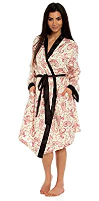 Ladies Silver Grey Satin Silky Dressing Gown Robe Wrap with Lace Full Length Kimono Size 8 10 12 14 16 18 20 22