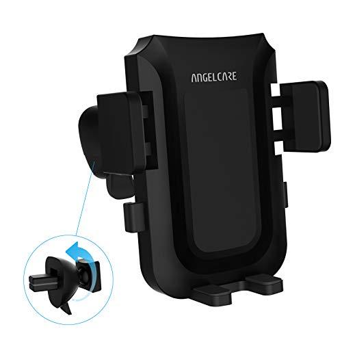 ANGELCARE Handyhalterung Halter Auto - Universale Lüftungsschlitz Autohalterung Phone Halter Kompatibel mit Smartphones iPhone XS Max/XS/XR/X/8/8 Plus/7/7 Plus/6/6 Plus, Samsung, LG - Schwarz