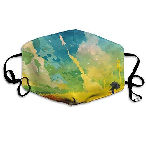 Masken,Masken für Erwachsene,Paint Portrait Masks,Washable and Reusable Cleaning Mask,For Allergens,Exhaust Gas,Running,Cycling,Outdoor Activities