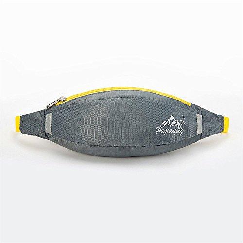 Wewod 600 D Nylon Wasserdicht Gürteltasche/Sport Hüfttasche-Exklusive Öffnung für Kopfhörer-Reflexstreifen für Nachtsichtbarkeit-zum Laufen und Reisen Entwickelt (Grau) Grau