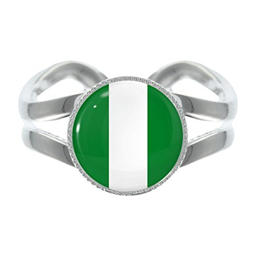 nigerian-flag-design-silver-plated-adjustable-ring
