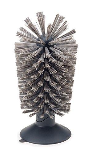 Joseph Joseph 85104 Brush-Up - Glasspülbürste, Kunststoff, grau, 8 x 8 x 14.2 cm