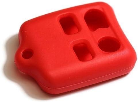 dantegts Porte-clés en silicone rouge Housse étui Smart Télécommande Pochettes