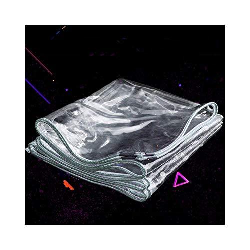 WZB wasserdichte Flugzeug Flugzeug Blatt Kunststoff Tuch Zelt Sonnenschutz UV-geschützt im Freien Balkon , 23 Größen (Farbe: klar, Größe: 1,8 x 4 m)
