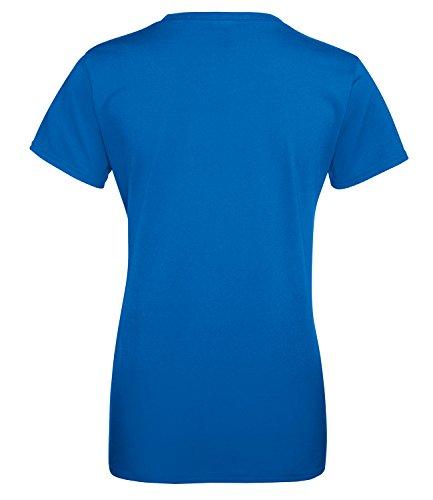 Nope - Damen Rundhals T-Shirt Royal/Rosa
