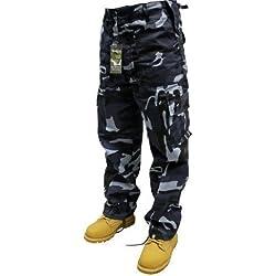 Urban Couture Clothing Midnight Camouflage 16–Pantalones de camuflaje estilo militar para hombre, talla 40–60
