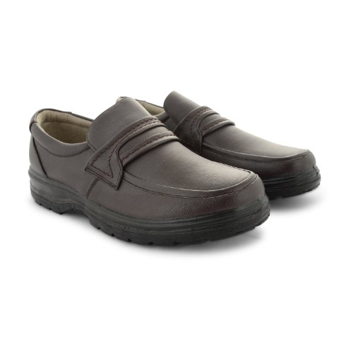 Footwear Sensation , Herren Mokkasins Braun braun Derek -Brown Slip On