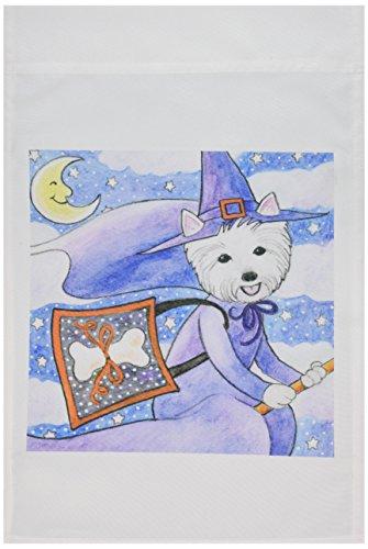 Für Westies Hunde Kostüm - 3dRose FL 23301_ 1West Highland Terrier Westie in Kostüm Hexe Halloween Westie Hund Garten Flagge, 12von 18
