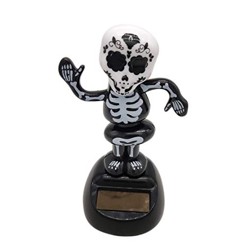 n Solarbetriebene Tanz Swinging Animated Bobble Tänzer Spielzeug Auto Dekor | Skeleton Skull Toy (11 * 5cm) ()