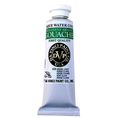 Artists' Gouache Opaque Watercolor Paint Size: 1.25 Ounce, Color: White (Titanium) by Da Vinci Paints -