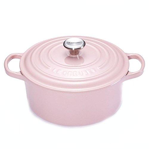 Le Creuset 21177204014430Bräter, rund, Gusseisen Reinigungstuch Pink 20x 20x 11.3cm