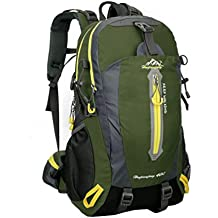 Vbiger 40L Zaino da escursione All'aperto Dayapck Casuale Zaino Trekking di grande capacit¨¤ Borsa a tracolla da viaggio per uomini e donne alpinismo