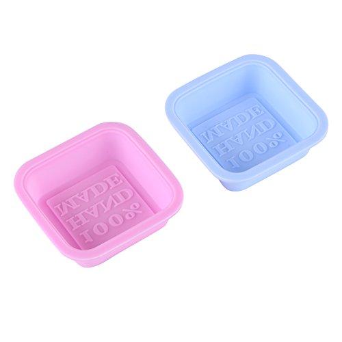 Juego de 2 moldes de silicona hechos a mano para jabón de dulces, pasteles, chocolate, manualidades