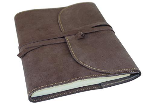 Life Arts Indiana Leder Nachfüllbares Notizbuch Handgefertigt Savannah, A5 Blanko Seiten Indiana Leder