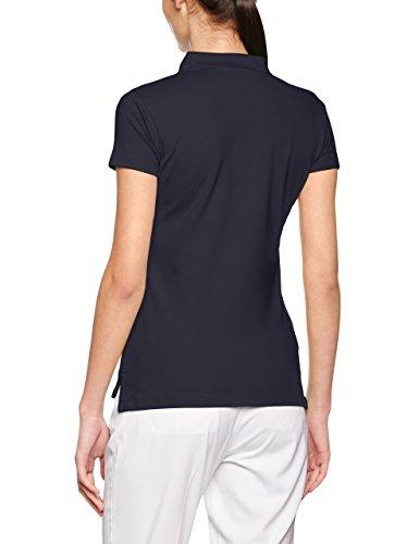 James & Nicholson Damen Poloshirt Ladies´ Elastic Piqué Polo Blau (Navy)