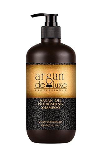Argan Deluxe Shampoo in Friseur-Qualität 300 ml - stark pflegend mit Arganöl für Geschmeidigkeit und Glanz -