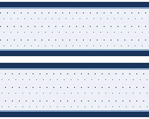 "Kleisterbordüre \""Blaue Kreise\"", 4-teilig 520x15cm, Tapetenbordüre, Wandbordüre, Borte, Wanddeko,Retro, blau"