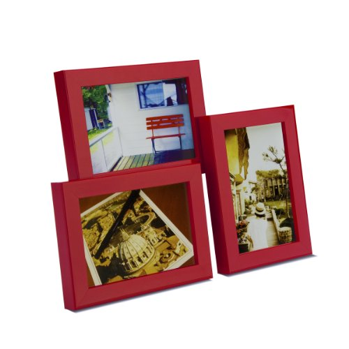 Umbra Tira 3 Multi Photo Frame, Red
