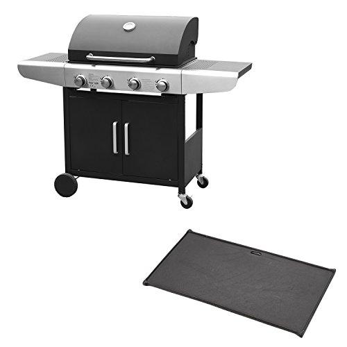 Barbecue au gaz KENTUCKY - 4 brûleurs avec thermomètre + plaque