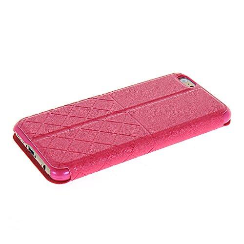 MOONCASE Etui Housse Cuir Portefeuille Case Cover Pour Apple iPhone 6 Doré Hot Rose 01