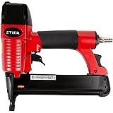 STIER Druckluftnagler HKN-10/40 | für Heftklammern 10-40 mm | incl. Handwerker-Koffer | zur Befestigung von Werkstoffen |